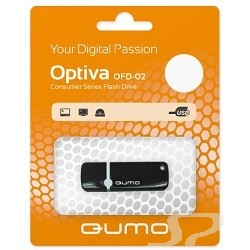 Носитель информации QUMO USB 2.0  8GB Optiva 02 Black [QM8GUD-OP2-black] - 15441
