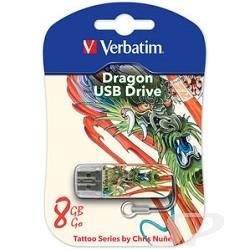 носитель информации Verbatim USB Drive 8Gb Mini Tattoo Edition Dragon 049884 - 38941