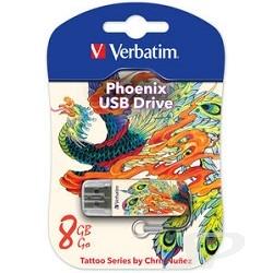 носитель информации Verbatim USB Drive 8Gb Mini Tattoo Edition Phoenix 049883 - 38943